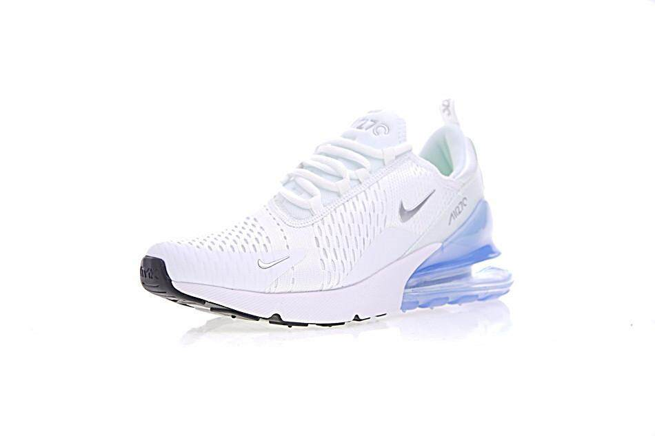 Nike Air Max 270 Men s Breathable Sport Sneakers Fashion Running Shoes ( White Blue) b375ba377