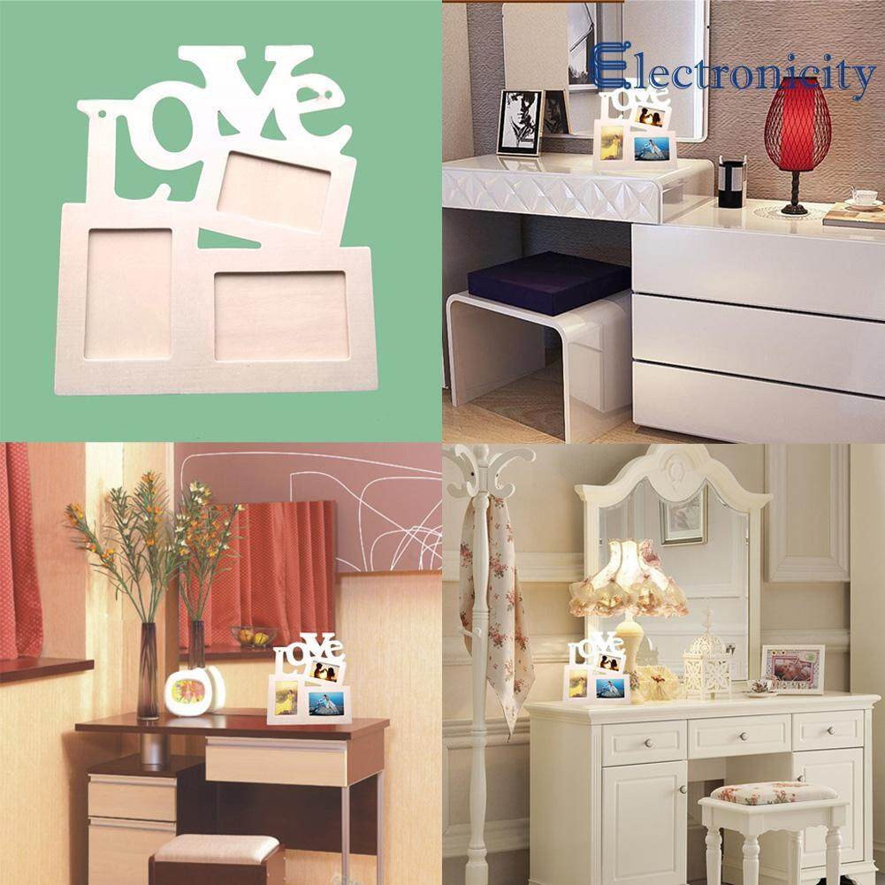 Hollow Tri - ply Wood Blank Love DIY Painting Picture Photo Frame Home Decor