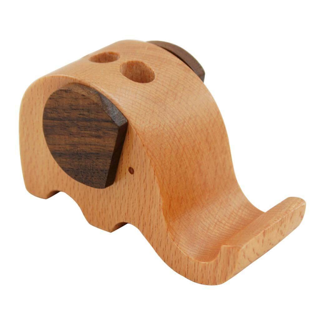 Leegoal Giá Đỡ Điện Thoại, gỗ Voi Bút Có Giá Đỡ Điện Thoại Bàn Làm Việc Nhà Tổ Chức Di Động Chân Đế Lưu Trữ (Gỗ)-quốc tế