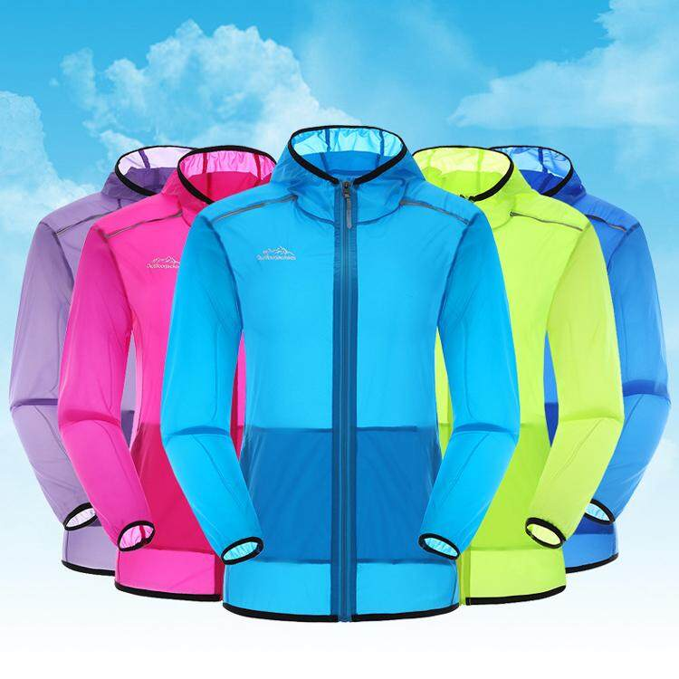 Women's Outdoor Windbreaker Sun Protection Quick Dry Thin Skin Hooded Jackets