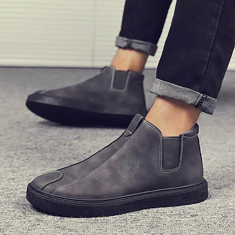 Yealon Sepatu Bot Sepatu Bot Setumit Sepatu Kulit Pria Sepatu Kulit untuk Pria  Sepatu Bot Martin cad8898996