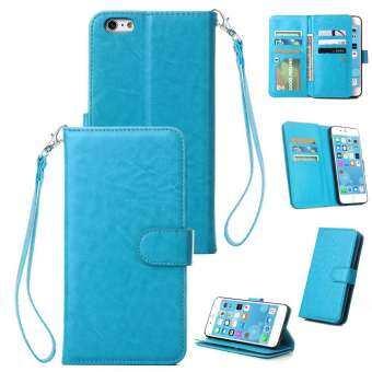 สำหรับ iPhone 7/8 Plus ฝาครอบป้องกันกันกระแทกเคสโทรศัพท์ 9 ช่องใส่การ์ดวงเล็บ Lanyard สไตล์: iPhone 7/8 PLUS-