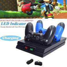 HXM PS4 LED Sạc 2 CỔNG USB Sạc Nhanh Đế Cài