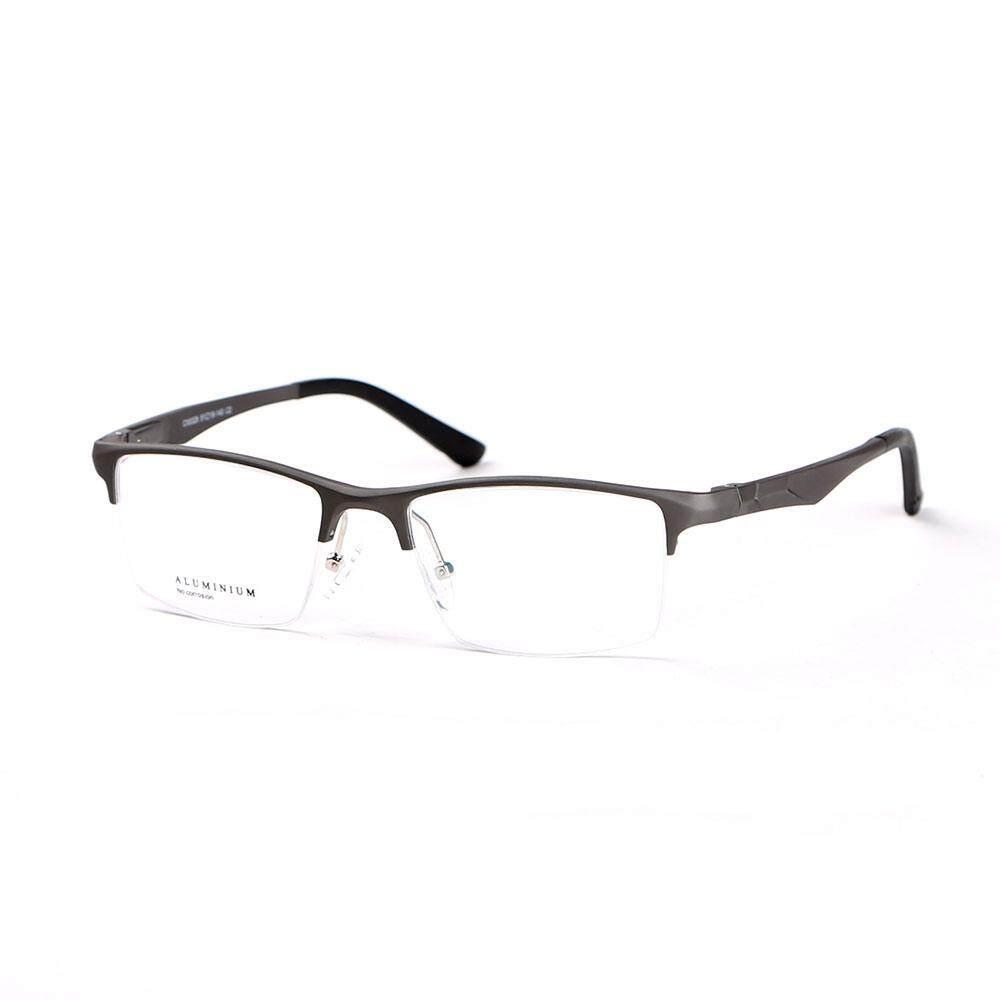 Stallane Bingkai Optik Gaya Aluminium Kacamata Bisnis Tontonan Kacamata Paduan Kaca Mata Setengah Pelek untuk Pria