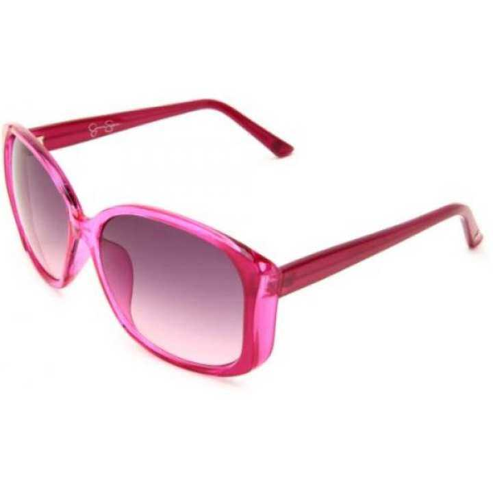 Jessica Simpson Womens Jquare Sunglasses,Pink Lens,One Frame/Smoke To Pink Gradient Lens,One Sunglasses,Pink Size b08f83