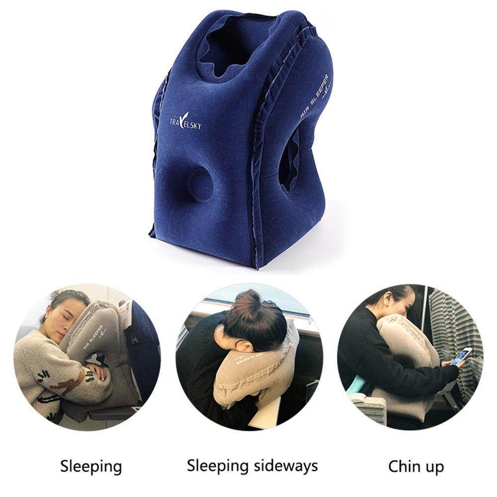 KACOO Sleep Aid Inflatable Travel Pillow Ergonomic And Portable Head Neck Rest Pillow Fast Inflate/Deflate Cushion Airplane Pillow
