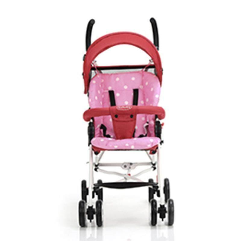 yupt 70*53*36cm Cotton Portable Baby Stroller Polka Dot Printed Comfortable Cushion Pads