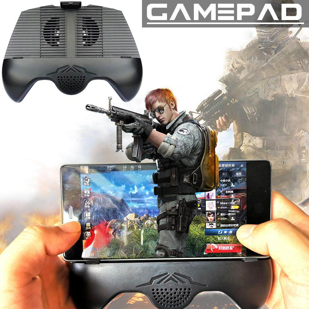 Mobile Phones Game Controller Handle Holder with Bluetooth Speaker Cooling Fan and Holder Function