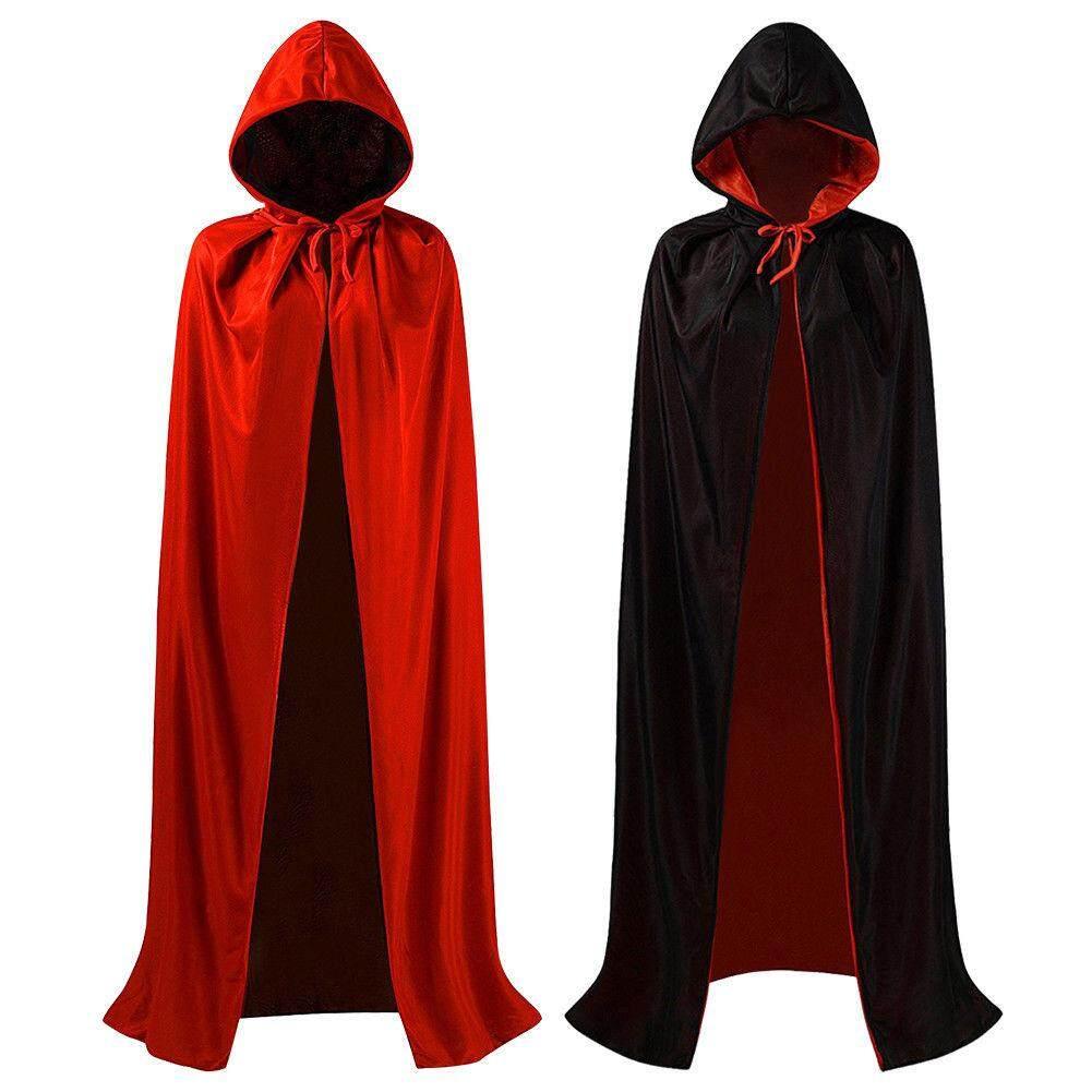 ❥Gracekarin Online Adult Long Cape Hood Masquerade Halloween Costume Dress Smock Hooded Cloak (120/150/ 170 cm Optional)