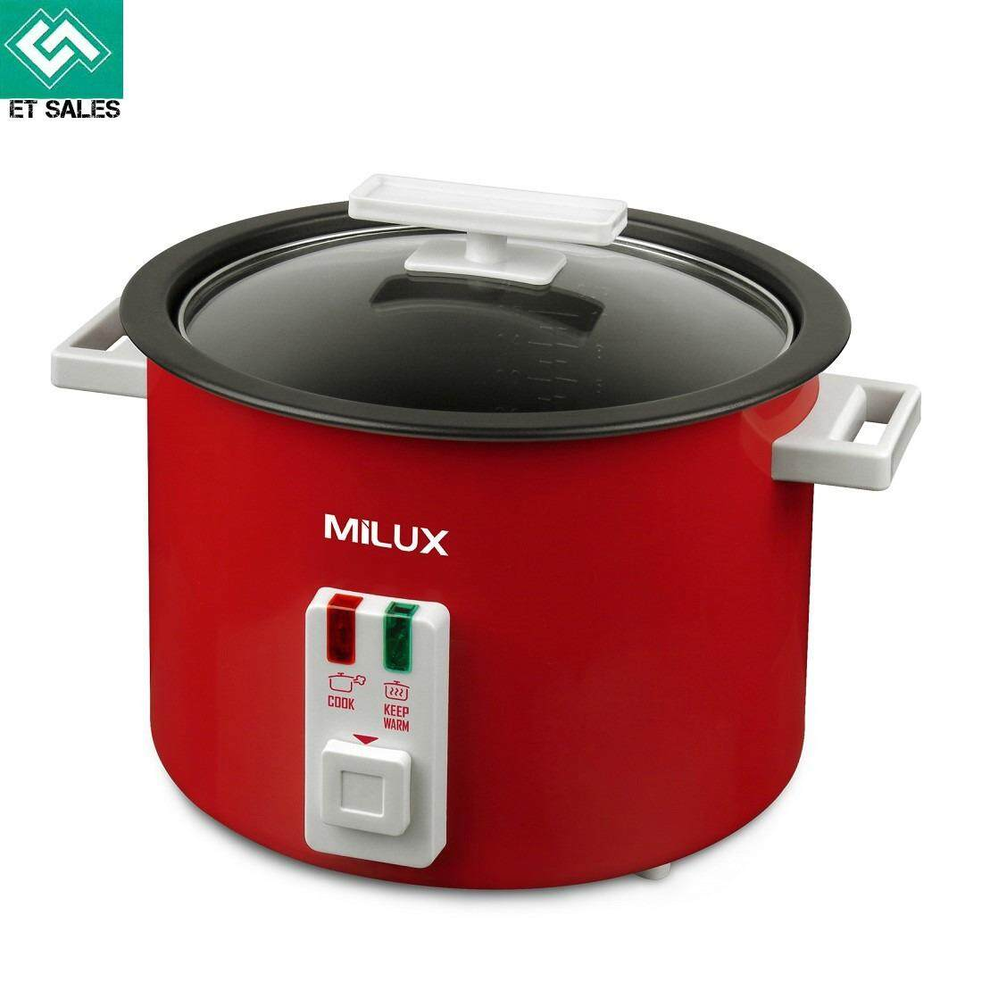 Milux 1.8L Rice Cooker *Non-Stick Pot* (MRC718) Red
