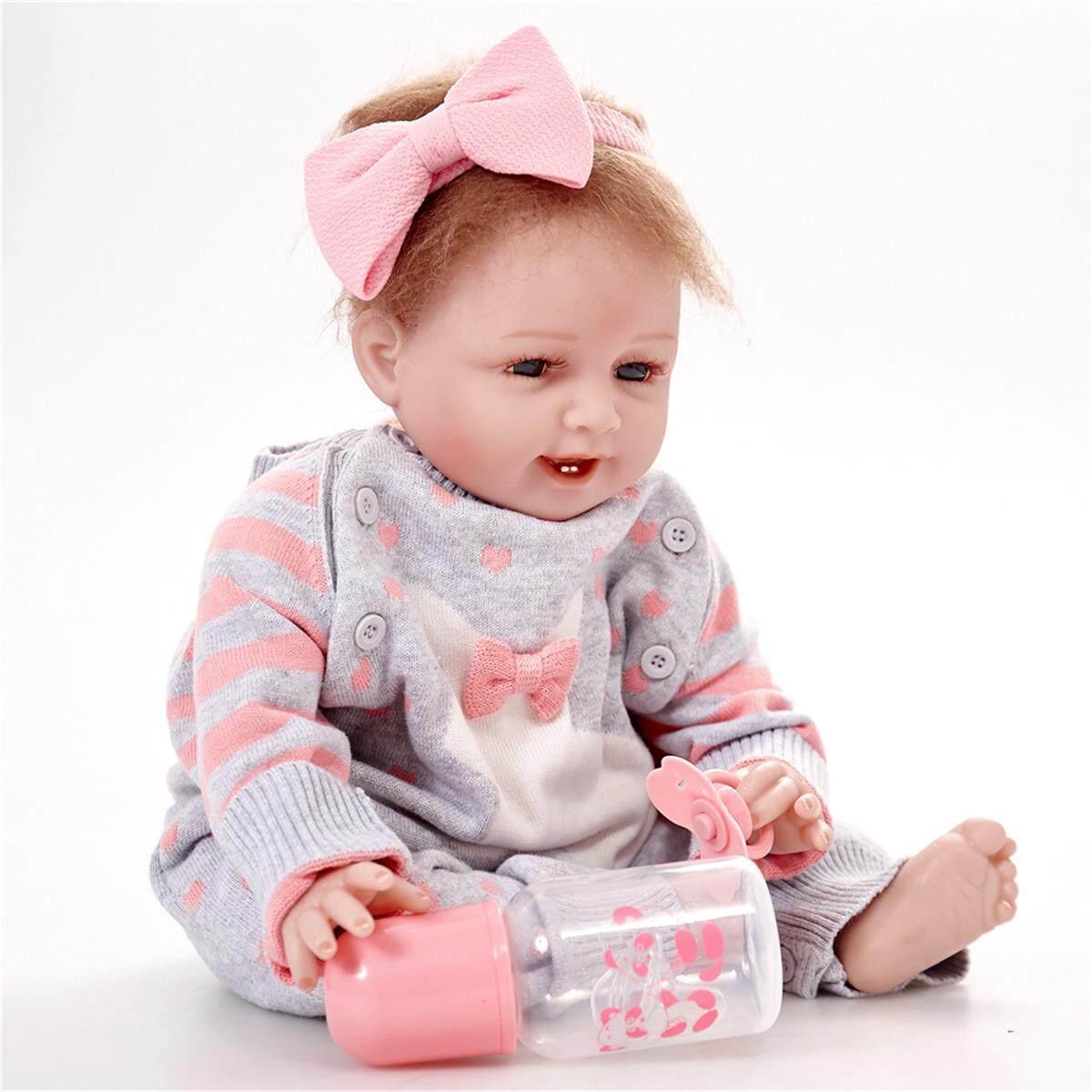 New Newborn Reborn Baby Girl 22 Lifelike Doll Realistic Toy Christmas Gift