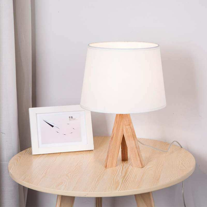 Table Lamp LED Bedroom Bedside Modern Minimalism Solid Wood Creative Personality Nordic Desk Lamp Singapore