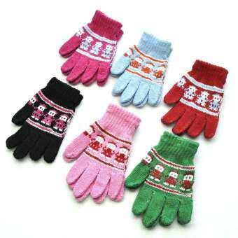BN เด็กเสื้อถักไหมพรมถุงมือผ้าขนสัตว์น่ารัก Jacquard เด็กถุงมือถักแฟชั่นสำหรับเด็ก-
