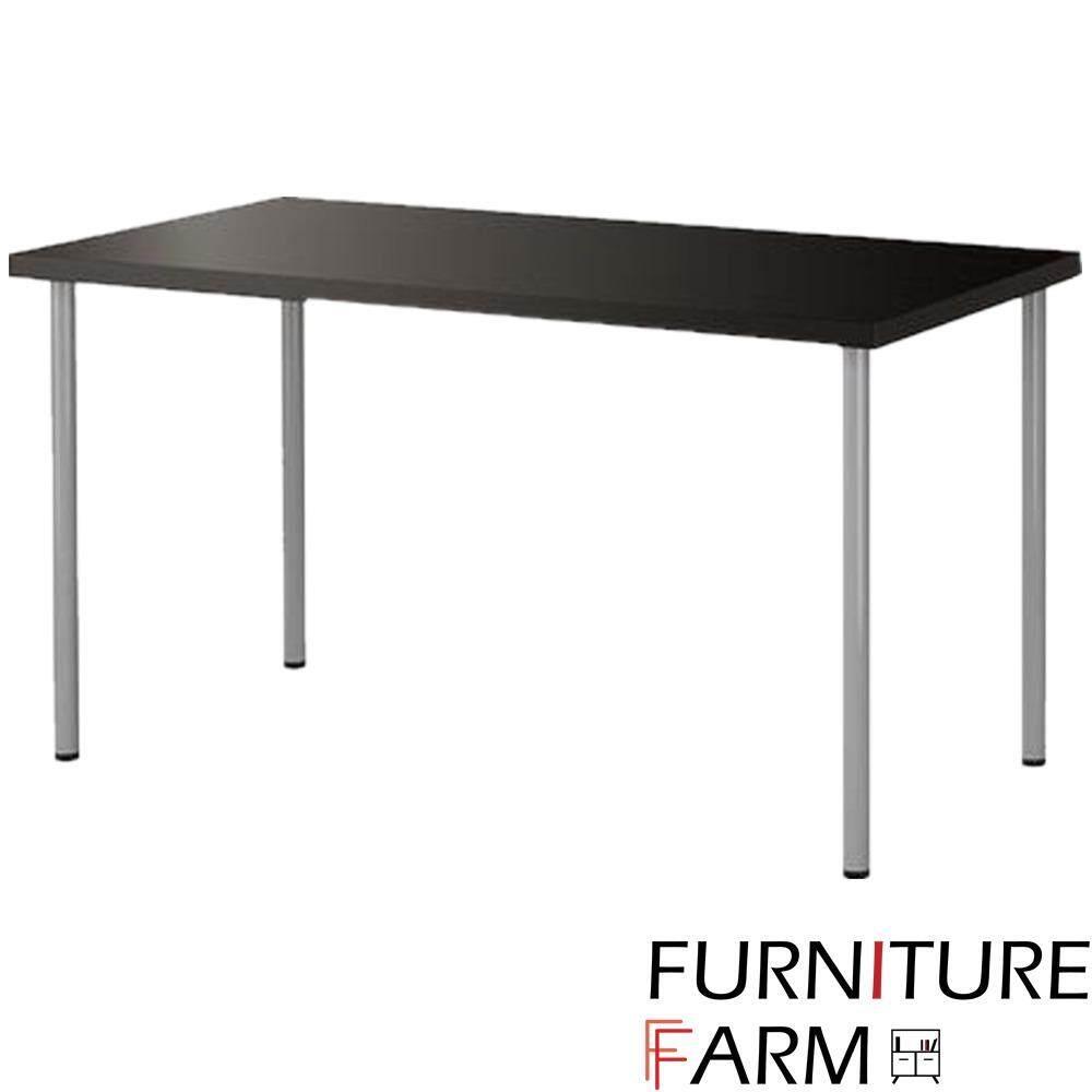 simple office tables. farmie: simple office furniture table - dark brown (120cm x 60cm) tables p