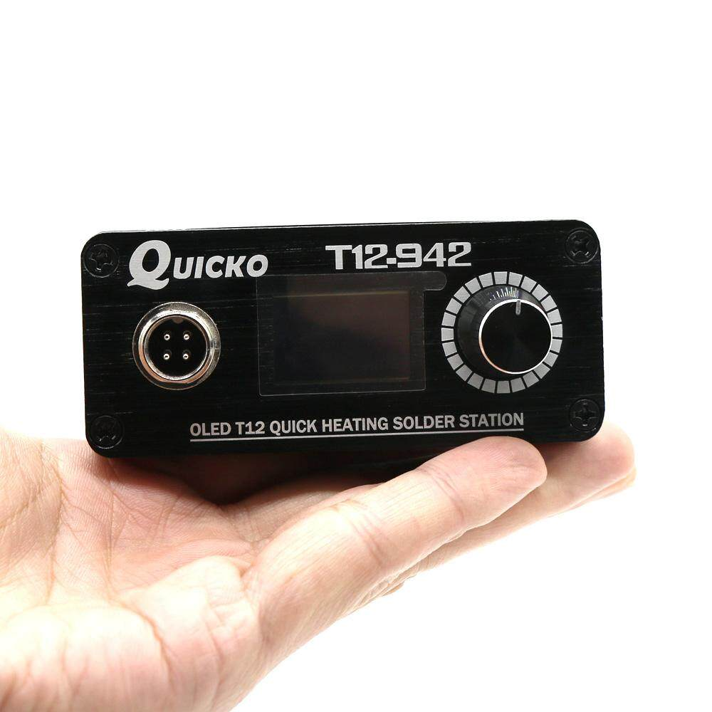 Quicko T12-942 MINI OLED Digital Soldering Station T12-907 Handle with T12-K