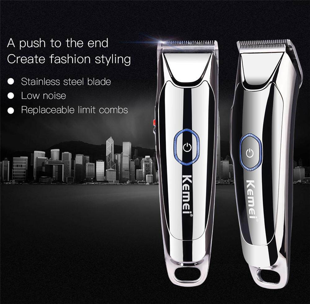 Portable Cordless Rechargeable Hair Clipper Electric Hair Trimmer Hair Cutting Machine For Children Adults (silver) Aercs294sq () By Angel Shoes.