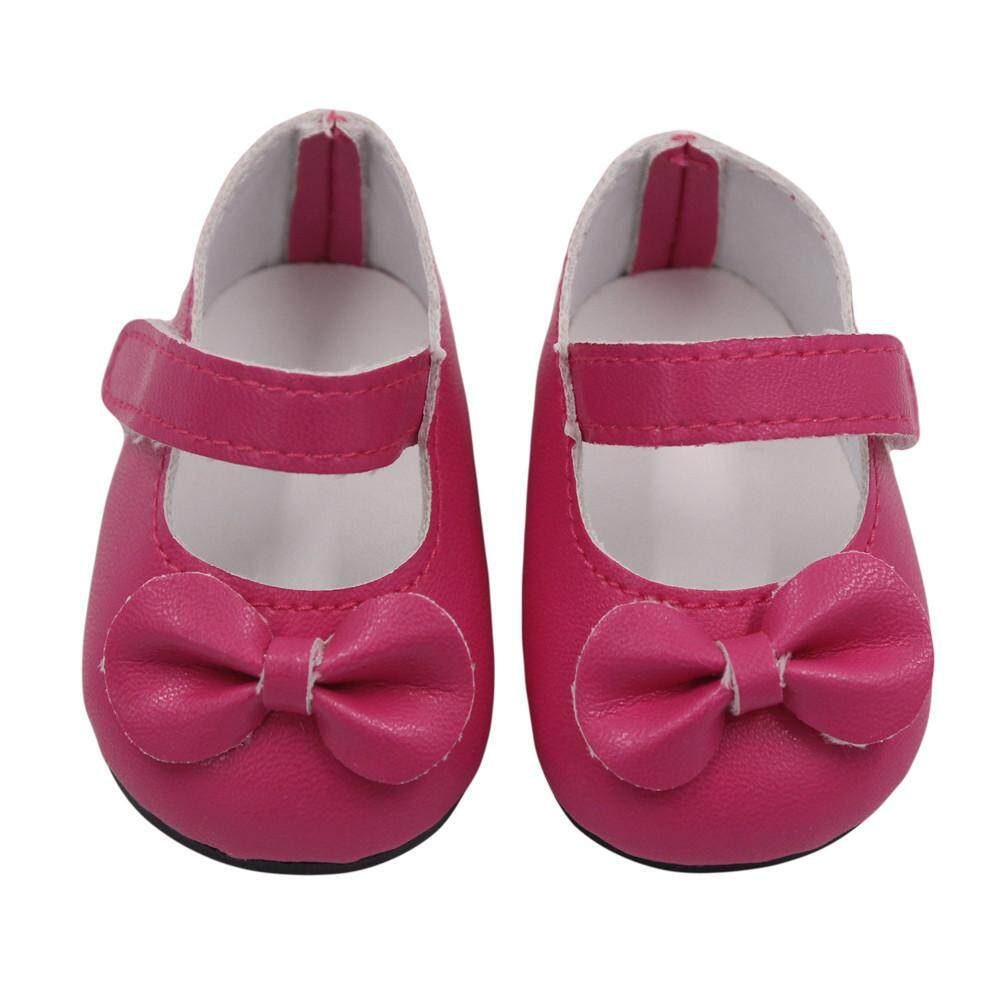 231cd6907e7b2 【free shipping】Glitter Doll Shoes Bow Dress Shoes For 18 Inch Our  Generation American Girl Doll aitao