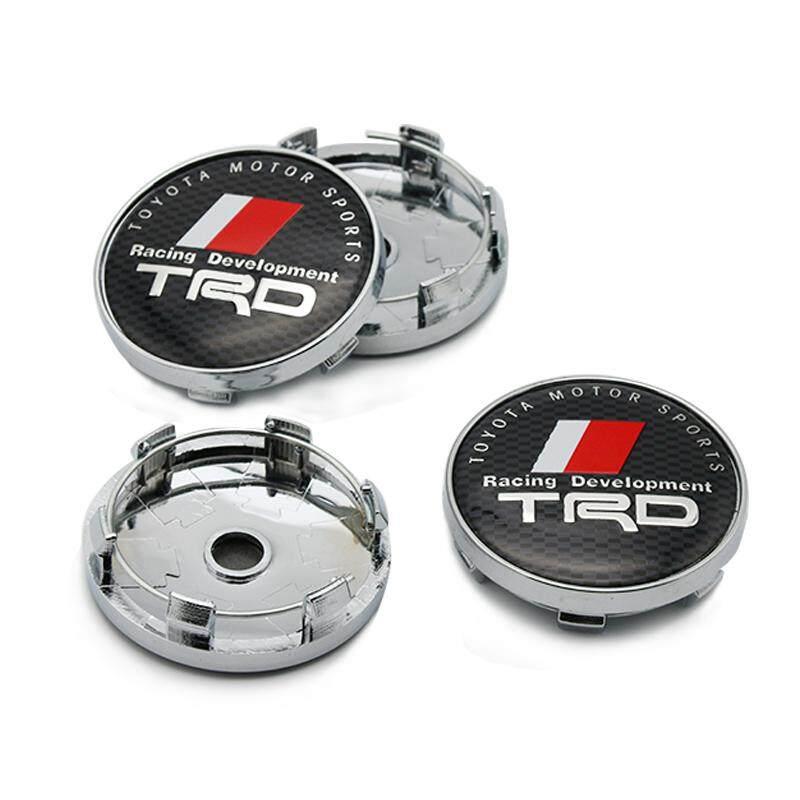4PCS 60mm Car Wheel Center Hub Caps Emblem Badge Rim Cap for TRD