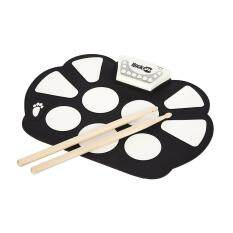 Professional Roll up Drum Pad Kit Silicon Foldable with Drum Stick Portable Electronic Drum USB Drum
