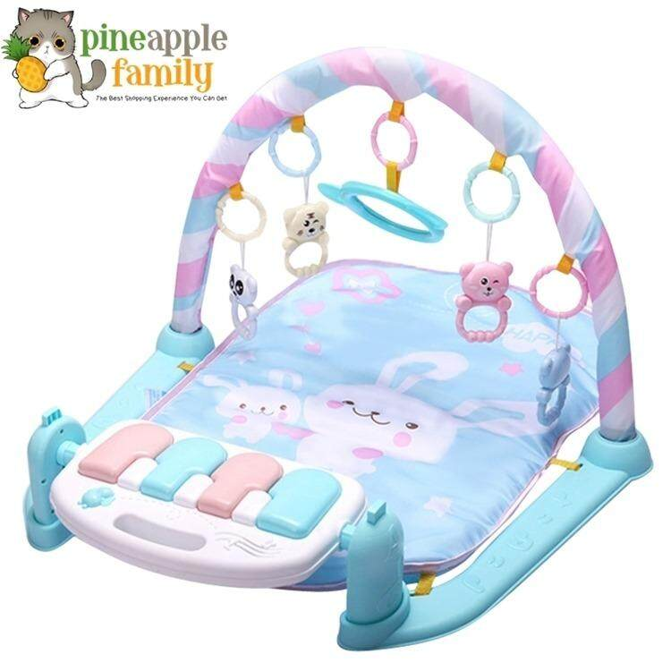 Pineapple Baby Toddler Playgym Playmat Play Gym With Music & Lights - Pastel