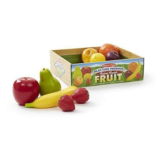 Melissa & Doug Melissa & Doug Playtime Produce Fruits Play Food Set With Crate (9 pcs)