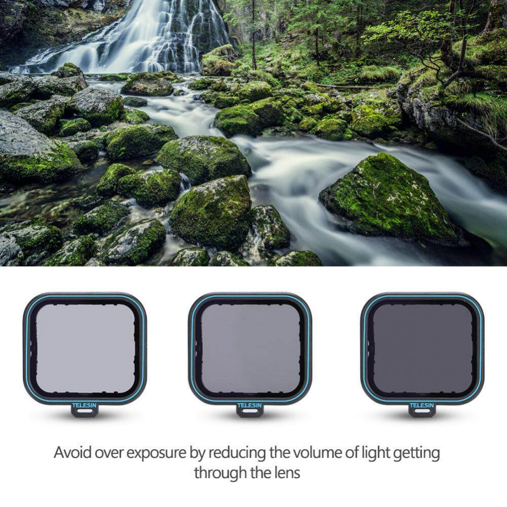 TELESIN Optical Glass Neutral Density ND4/8/16 ND Fader Filters Set for Gopro Hero 5&6