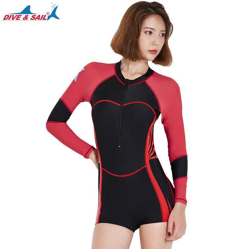 New Ma'am Sports Outdoors Wetsuits Water Sports Snorkeling Diving Suits Leica Siamese surfing Sunscreen Slim short paragraph
