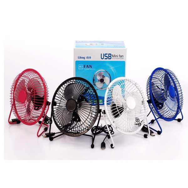 Lileng 819 Desktop Fan USB Power Supply 360 Rotating 2 Speeds Mini Portable  Fan