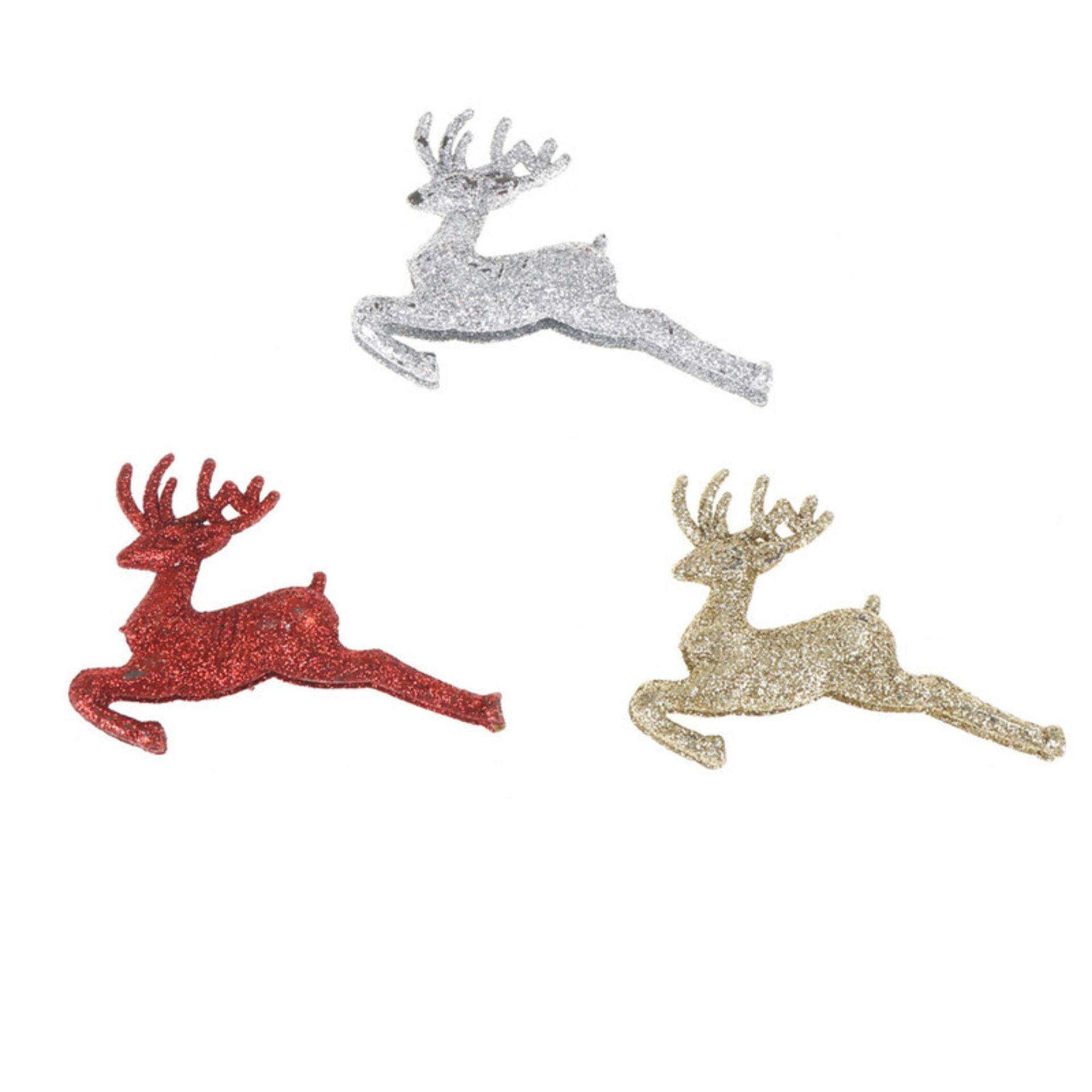 3pcs Christmas Tree Ornaments Reindeer Deer Hanging Xmas Baubles Decor - intl