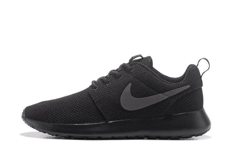 Nike Roshe Run Men s Comfortable Sport Sneakers Lightweight Running Shoe ( Black Grey) 265c720a0