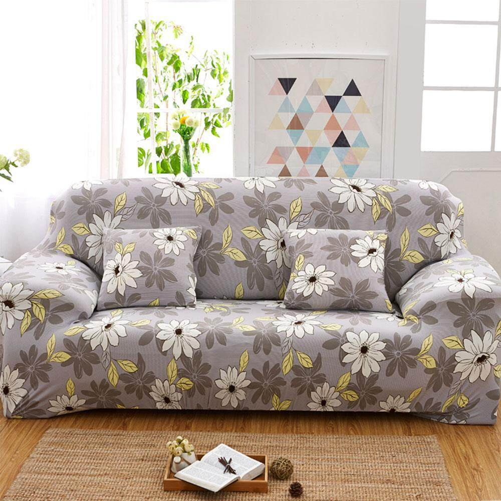 BuyBowie Stretch Slip Cover, Printed Anti-slip Stylish Furniture Protector  Sofa Cover with Adjustable Straps & Anti-slip Foam for Leather & Fabric ...