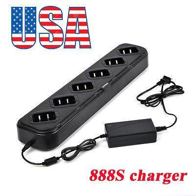 Six//6-Way Universal Rapid Multi Charger For BaoFeng BF-888s Retevis H-777 Radio
