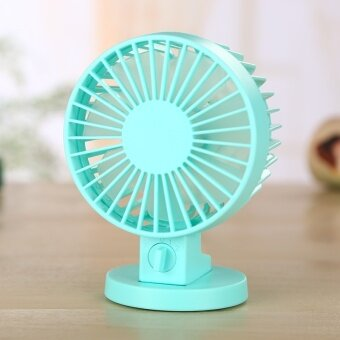 Tuansing Summer Office USB Mini Desk Fan Portable Fan Leque Air Conditioner DC 5V 2 Blades Cooler Adjustable Speed Fan