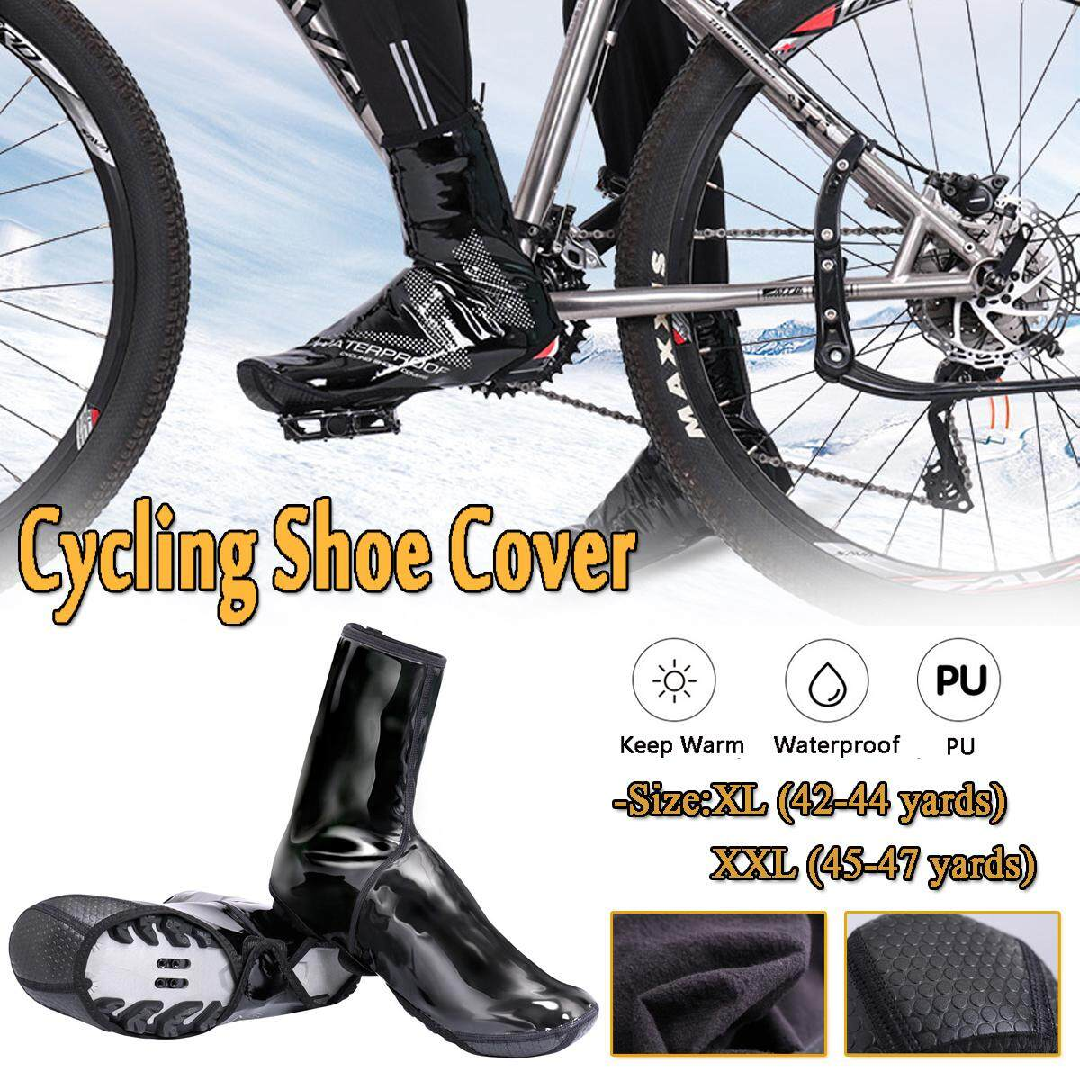 Cycling Shoes Cover Keep Warm Windproof Waterproof PU Protector Overshoes Sock