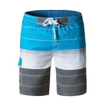 กางเกงขาสั้นผู้ชายกางเกงว่ายน้ำแห้งเร็วชายหาดท่องวิ่งว่ายน้ำ Watershort-