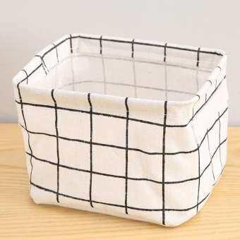 Simple ผ้าพับเก็บได้ช่องเก็บของผ้ากล่องตระกร้าสำหรับ Home ที่เก็บเอกสารโต๊ะตกแต่ง-