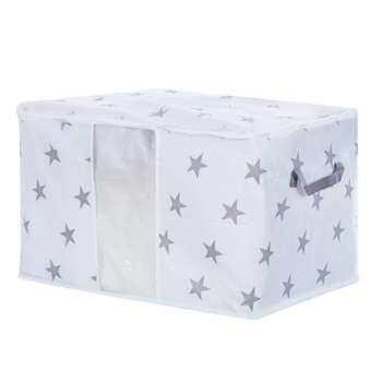 Outops ความจุสูงแบบพกพา Non - ผ้าห่มทอกระเป๋าเก็บของตู้เสื้อผ้าพับสำหรับผ้านวมผ้าห่มผ้าปูที่นอนสไตล์: STAR-
