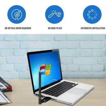 Auoker WiFi USB Adapter,600Mbps Dual Band,Wireless Network Card Adapter For  Desktop Laptop PC Windows 10/8 1/8/7/XP/Vista