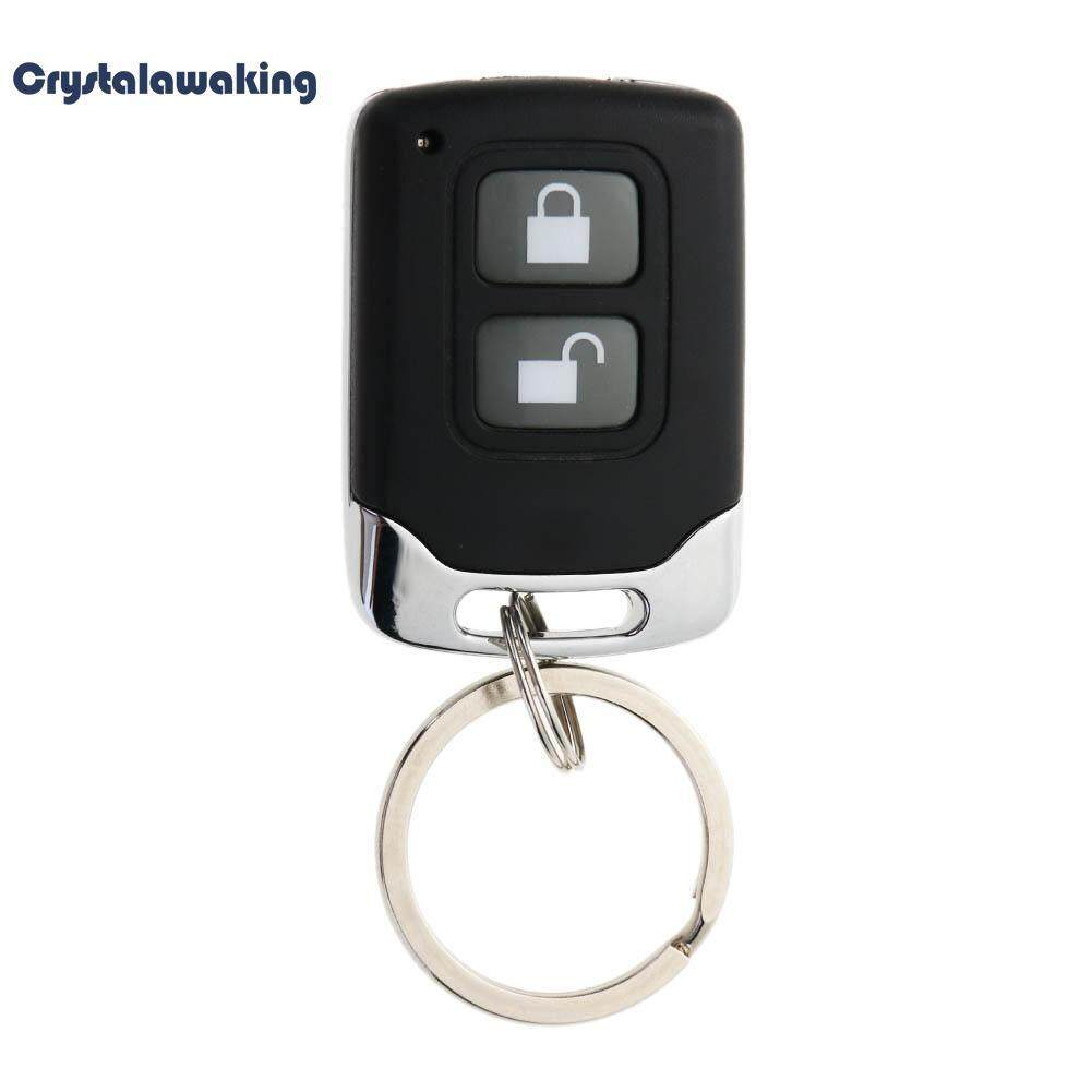 2-Button Wireless Electric Gate Garage Door Security Alarm Remote Key Fob (Black)