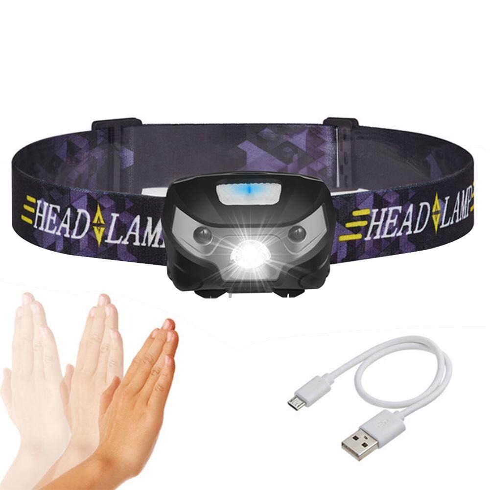 DSStyles อัจฉริยะเซนเซอร์ตรวจการเคลื่อนไหวของร่างกายไฟหน้ารถมอเตอร์ไซค์แบบ LED USB ชาร์จ MINI ไฟหน้ากลางแจ้ง