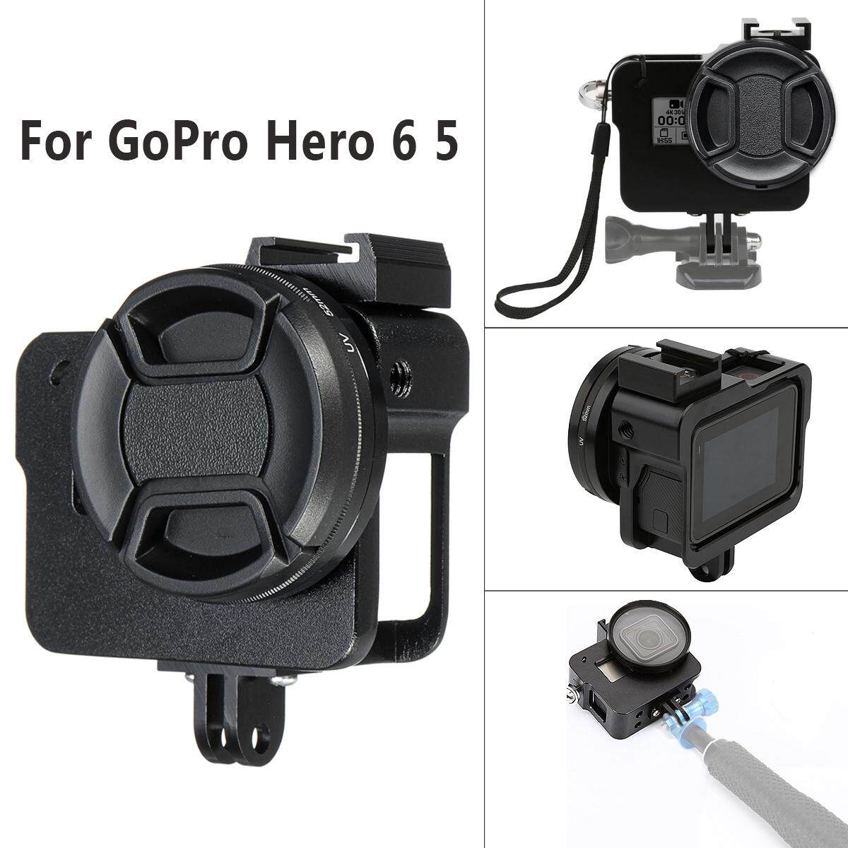 Black Aluminum Alloy Protective Case Skeleton Housing for Go Pro Hero 6 5
