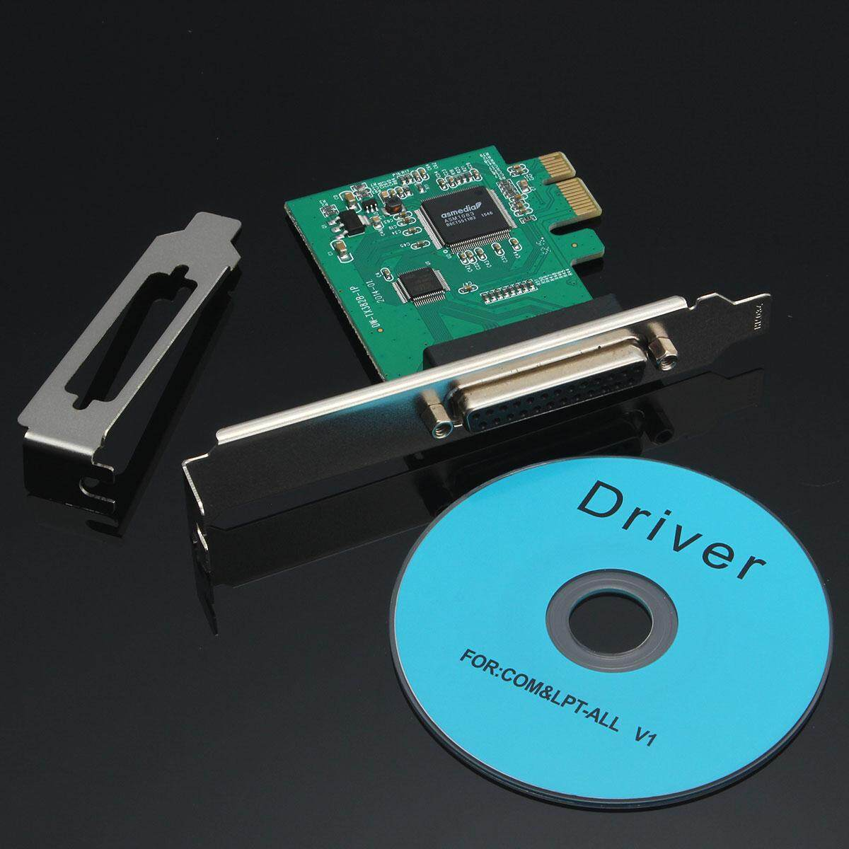 PCI-E Parallel Port Express Card Converter Adapter +Low Profile Bracket