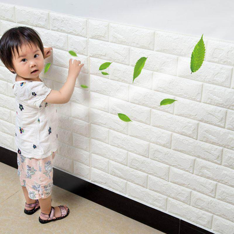 3D Diy Wallpaper Wall Stickers White Brick