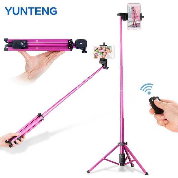 Original Yunteng VCT-1688 Mini Tripod 3in1 Bluetooth