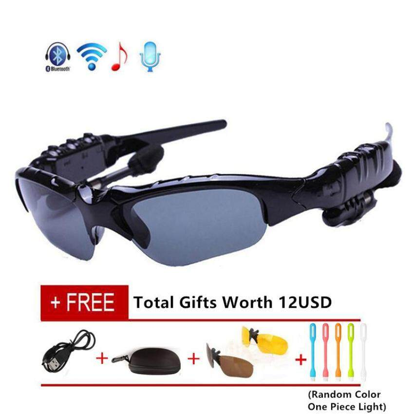 91de855a67b8 LGH Wireless Bluetooth 4.0 Stereo Headset Driving Call Music Handsfree Smart  Sunglasse sport Riding Eyes Glasses