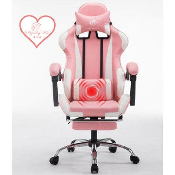 LB Racing Style Adjustable Gaming Chair Executive Office Chair RED BLUE  ORANGE Come With Footrest Legrest And Massage Pillow Amazing Free Gift!! |  Lazada