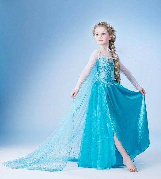 Girls Disney Frozen Costume Princess Elsa Dress for Kids Dress For Kids Girl
