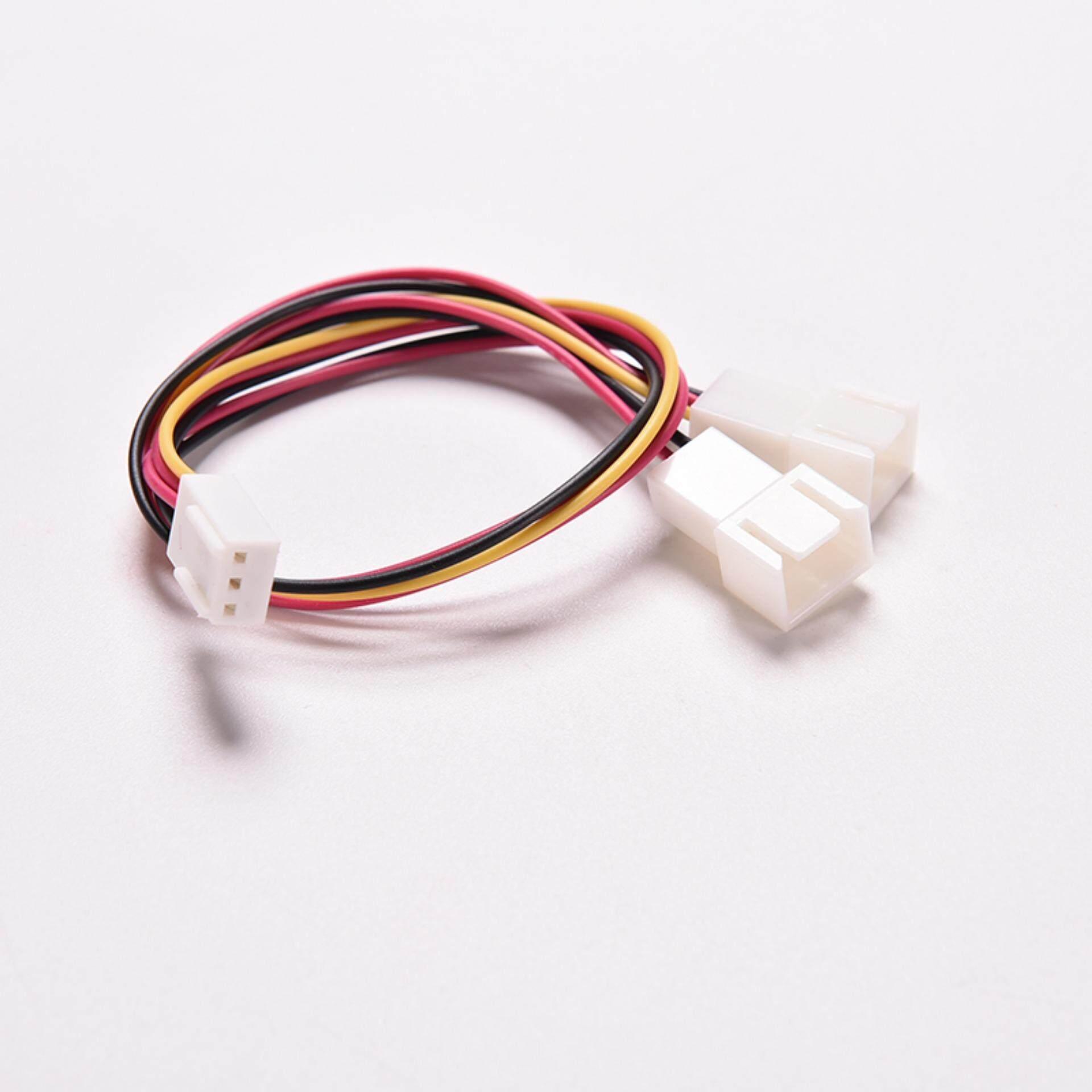 Dragon 5pcs 3 Pin Case Fan Power Splitter Cable Lead 1 Female To 2 Male Motherboard