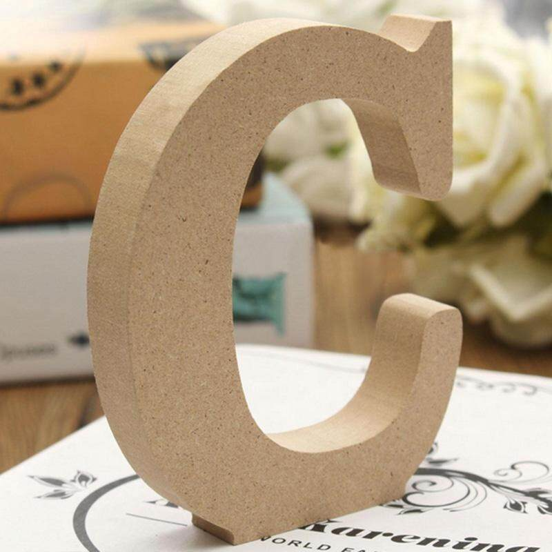 Clearance sale Simple Wood A-Z Letters Banquet Wall Hanging Plaque Home Decor Party Sign Props - intl