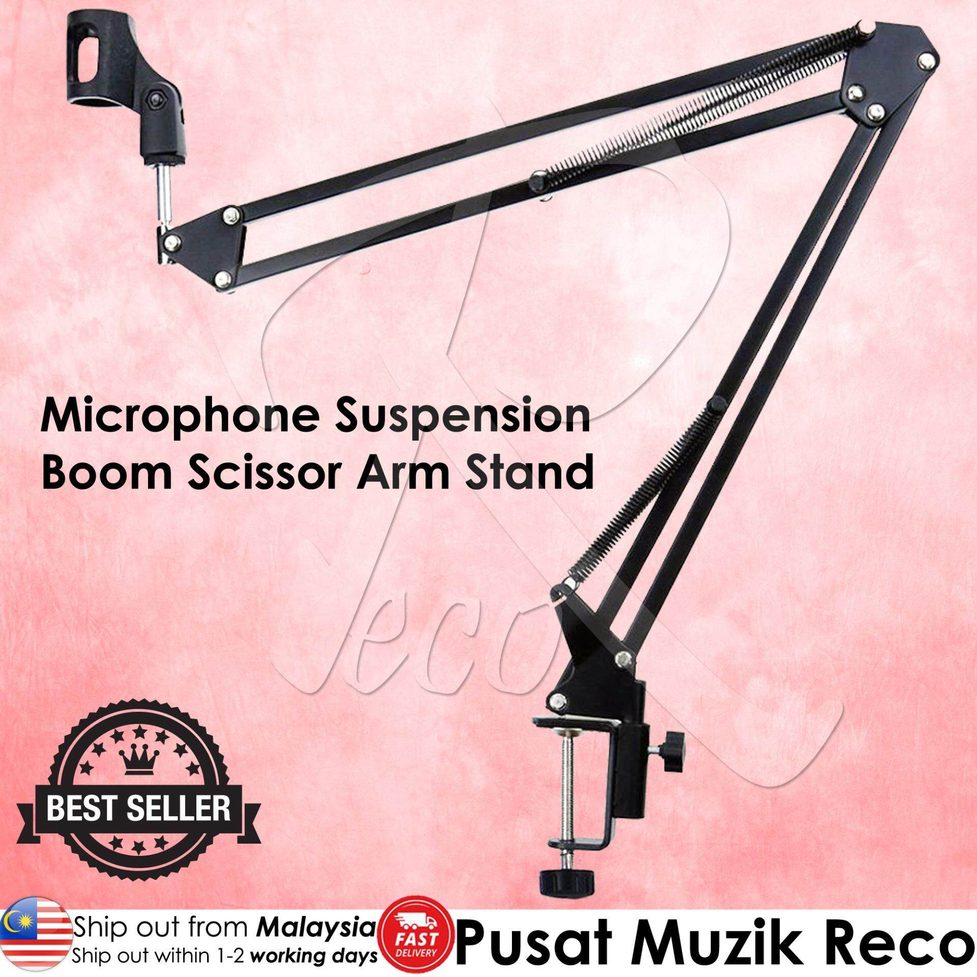 RM NB35 NB-35 Microphone Suspension Boom Scissor Arm Desktop Stand with Mic Clip Holder